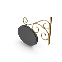 Gold Forged Signboard PNG & PSD Images