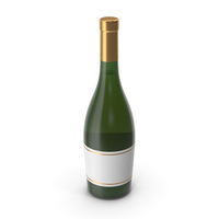 Champagne Bottle Gold PNG & PSD Images