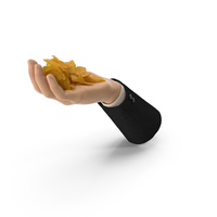 Suit Hand Handful with Nachos PNG & PSD Images
