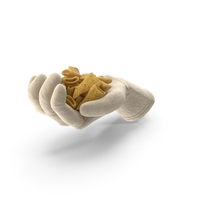 Glove Handful with Cone Shaped Corn Snacks PNG & PSD Images