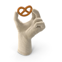 Glove Holding a Mini Pretzel PNG & PSD Images