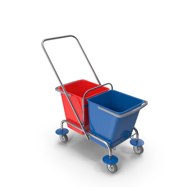 Cleaning Trolley with Buckets PNG & PSD Images