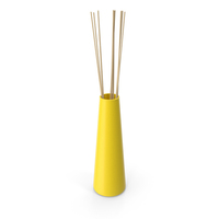 Decorative Tube Vase Yellow PNG & PSD Images