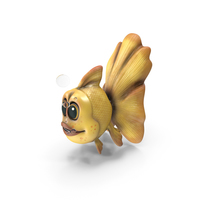 Cartoon Golden Fish Yellow PNG & PSD Images