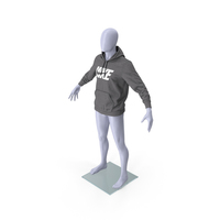 Grey Hoodie Nike Lowered Hood on Mannequin PNG & PSD Images