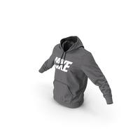 Grey Hoodie Nike Lowered Hood PNG & PSD Images