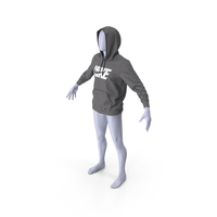 Grey Hoodie Nike Raised Hood on Mannequin PNG & PSD Images
