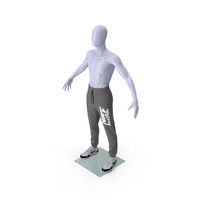 Grey Nike Joggers and Sneakers on Mannequin PNG & PSD Images