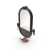 Hairdresser Table Mirror Black Copper PNG & PSD Images