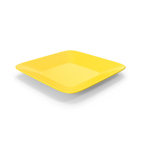 Square Plate Yellow PNG & PSD Images