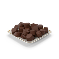 Plate With Chocolate Bars PNG & PSD Images