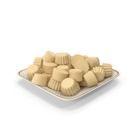Plate With Milky Chocolate PNG & PSD Images