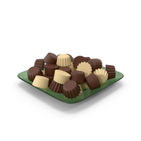 Glass Plate With Chocolate PNG & PSD Images