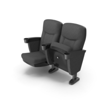 Black Theater Chair PNG & PSD Images
