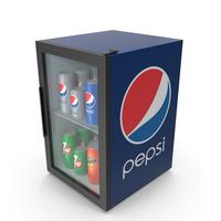 Pepsi Mini Refrigerator PNG & PSD Images