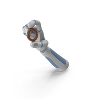 RobotHand Holding a Chocolate Covered Pretzel Ring PNG & PSD Images