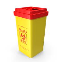 Sharps Medical Waste Bin PNG & PSD Images