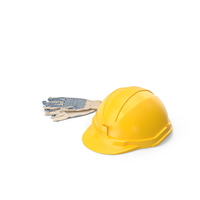 Work Gloves and Hard Hat PNG & PSD Images