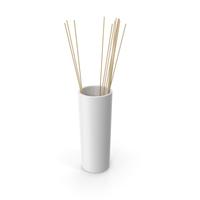 Decorative Tube Vase White PNG & PSD Images