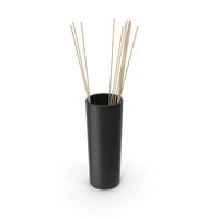 Decorative Tube Vase Black PNG & PSD Images