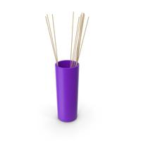 Tube Vase Purple PNG & PSD Images