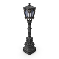 Gothic Street Lamp PNG & PSD Images