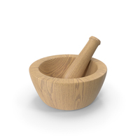 Wood Mortar And Pestle PNG & PSD Images