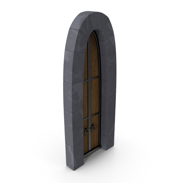 Stylized Old Castle Door PNG & PSD Images