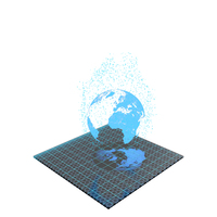 Hologram Earth Planet PNG & PSD Images