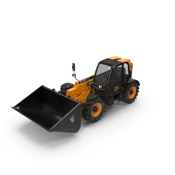 JCB 535 Telehandler Forklift Bucket Dirty PNG & PSD Images