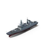 Destroyer HMS Diamond D34 Type 45 PNG & PSD Images