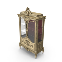 Luxury Display Cabinet PNG & PSD Images