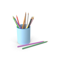 Penholder With Pencils PNG & PSD Images
