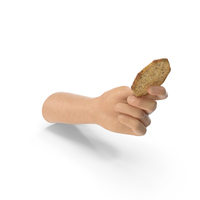 Hand Holding an Octagon Cracker with Seasoning PNG & PSD Images
