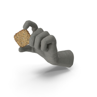 Glove Holding a Mini Rhombus Cracker with Seeds PNG & PSD Images