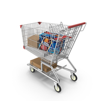 Supermarket Shopping Cart PNG & PSD Images