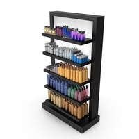 Cosmetic Display Rack PNG & PSD Images