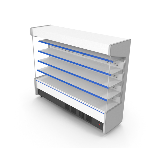 Empty Open Display Fridge PNG & PSD Images