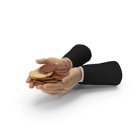 Suit Two Hands Handful with Chocolate Covered Crackers PNG & PSD Images