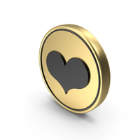 Heart Like Love Coin Logo Icon PNG & PSD Images