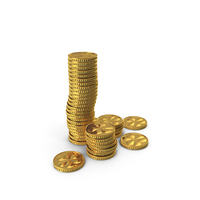 Golden Coins PNG & PSD Images
