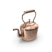 Antique Oval Copper Kettle 19th Century PNG & PSD Images