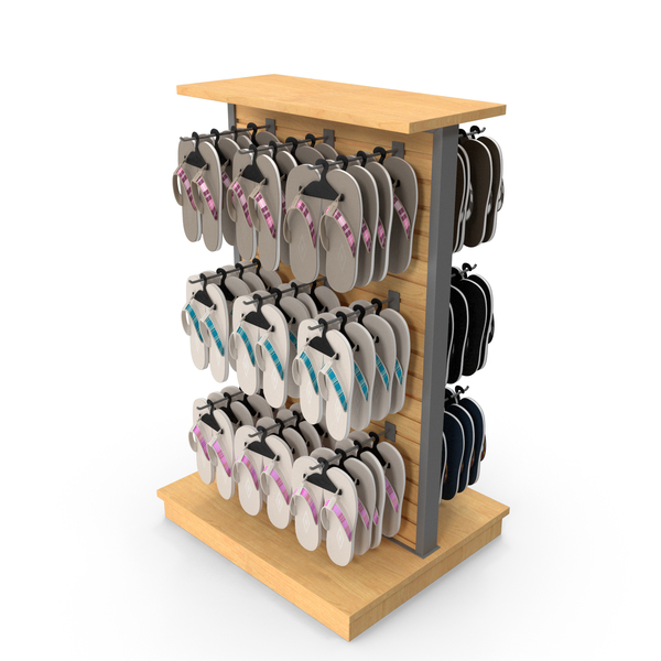 Sandals Display Rack PNG & PSD Images