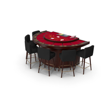 Blackjack Table With Stools PNG & PSD Images
