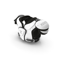 Football Shoulder Pads Xenith Flyte Youth White PNG & PSD Images