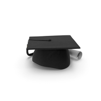 Graduation Cap with Degree Scroll PNG & PSD Images