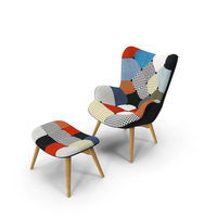 Grant Featherston Contour Lounge Chair Fabric Multicolor PNG & PSD Images