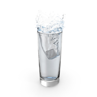 Ice Cube Water Splash PNG & PSD Images