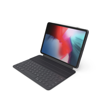 iPad Pro 2019 with Smart Keyboard 11 inch Space Gray PNG & PSD Images