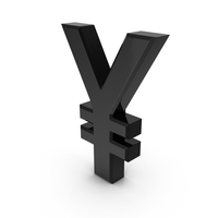 Japanese Yen Currency Symbol Plastic PNG & PSD Images